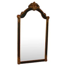 Antique Regency Style Mirror with Black and Gold Decorations