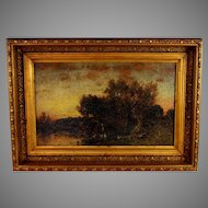 """Oil Painting  titled """"Twilight"""" by American Artist George Herbert McCord (1848-1909)"""