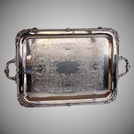 Friedman Silverplate Tray Table Wine Dining Kitchen Tea Party Cart Mini Bar