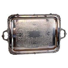 Friedman Silverplate Tray Table Wine Dining Kitchen Tea Party Cart Mini Bar