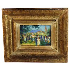 Oil on Canvas Painting by French Listed artist Georges Saveur Maury  (1872) B