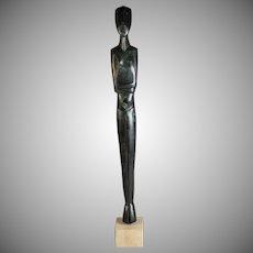 Stunning Modern Abstract Bronze Sculpture of a Female Form