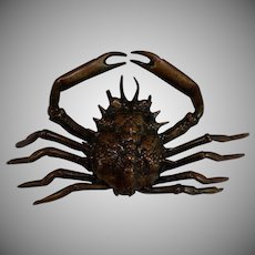 Antique Bronze Inkwell in the Form of a Crab