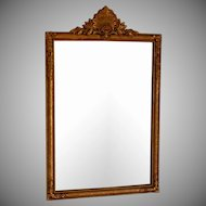 Vintage Ornate Gilded Mirror with Ornate Top