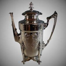 Aesthetic Period Coffee Pot Urn Aesthetic Movement 1850 - 1895