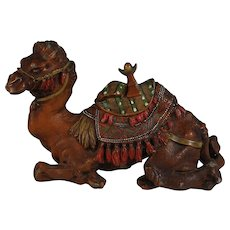 Antique Judd Cold Painted Camel Inkstand