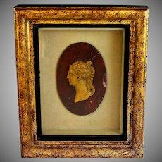 Grand Tour Marble Roman Relief Portrait of Caesonia Caligula