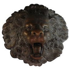 Large Bronze Lion Head Fountain Head Architectural Element
