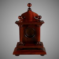 Antique Carved Wood Watch Hutch or Holder Porte Montre