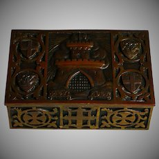 Vintage Bronze Dresser box, Casket, Marked 1147-1947
