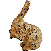 Vintage Cast Iron Still Bank Seated Bunny Rabbit