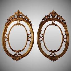 Set of Vintage Italian Parcel Gilt Mirrors