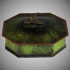 Mid Century Danish Bronze Lidded Box with Bird on Top
