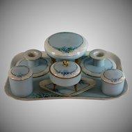 Vintage German Porcelain Dresser Set, Bavaria, Hutschenreuther