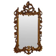 "Antique Gilt Napoleon III Mirror 29"" by 18"""
