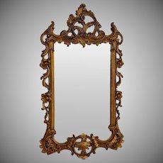 """Antique Gilt Napoleon III Mirror 29"""" by 18"""""""