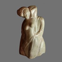 John Rossi (American 20th Century) Abstract Marble Sculpture Titled Seduction
