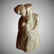 John Rossi (American 20th Century) Marble Sculpture Titled Seduction