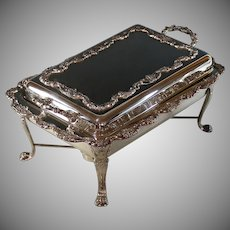 Vintage Towle Silver plate Covered Chafing Dish, Server, Silverplate