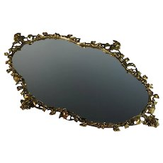 Gilded Bronze Mirrored Plateau – 25 by 17 inches 1890-1910
