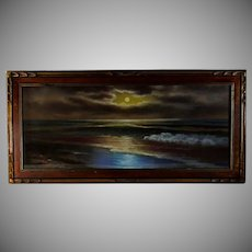 Pastel Luminous Seascape, early 20th Century
