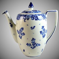 Hand-painted Porceleyne Fles Delft Blue Coffee Pot