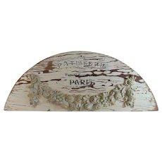 Vintage French Bakery Sign, Architectural Element