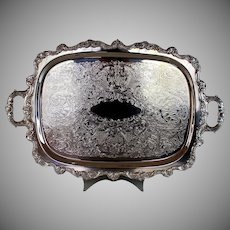 Large Silverplate Heated Serving Tray