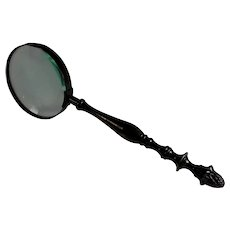 Fabulous Antique French Bronze Magnifying Glass