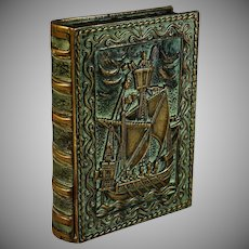 Max Le Verrier Bronze Book Box Maritime Scene