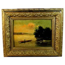 French School  Painting of a River Scene