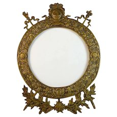 Rare Antique Nineteenth Century Restauration/ Restoration Period Bronze Photo Frame