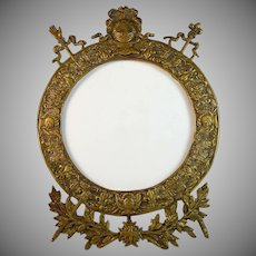 Rare Antique Nineteenth Century Restauration/ Restoration Period Bronze Photo Frame