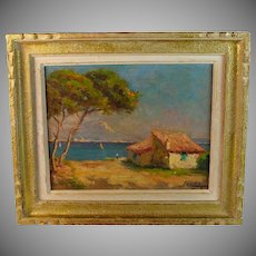 Oil on Panel Seascape by listed artist Louis Lanza (20th Century)
