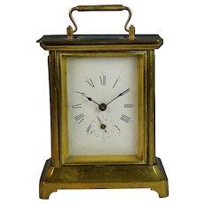 1878 French Carriage Officer's Alarm Clock Grand Prix de L'Horlogerie *