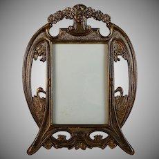 Gorgeous Art Nouveau Gilded Metal Photo Picture Frame