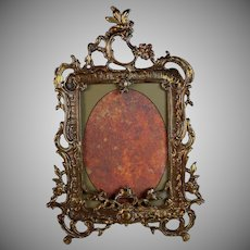 Antique Gilded Metal Photo Picture Frame