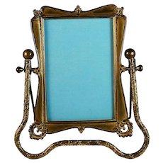 Antique Art Nouveau Swivel Photo Picture Frame
