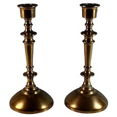 Pair of Bronze Candlesticks Candle Holder Marked
