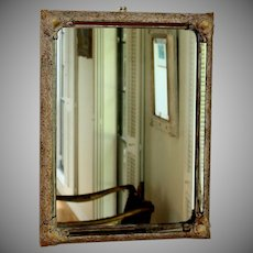 Vintage Parcel Gilt Wall Mirror with Mirrored Frame