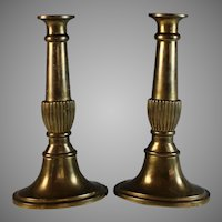 Vintage Set of Classic Bronze Candle Sticks