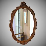 Vintage Ornate Large Hard Resin Framed Wall Mirror
