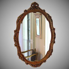 Vintage Ornate Large Hard Resin Framed Wall Mirror