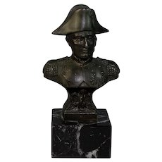 Grand Tour French Napoleon Bronze Sculpture Figurine Marble Base