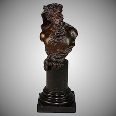 Bronze Bust of a Bearded Man by German Sculptor Franz Iffland (1862-1935)