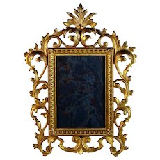 Antique Gilded Metal Photo Picture Frame B