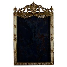 Louis XVI Style Antique French Gilded Metal Photo Frame