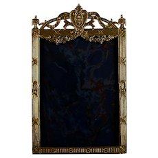 Louis XVI Style Antique French Gilded Metal Photo Frame