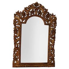 Spanish Colonial Mirror Carved Wood Frame