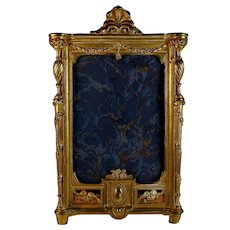 Antique French Gilt Metal Photo Picture Frame Belle Epoque